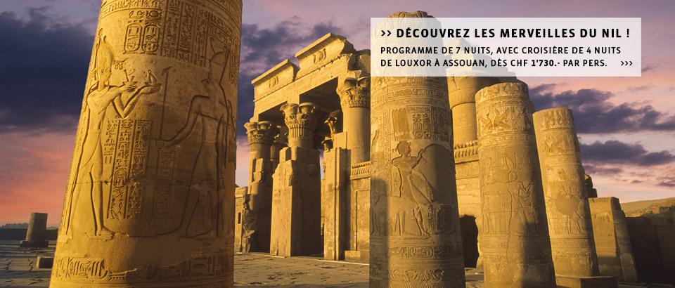 Destinations Egypte - Découvrir l'Egypte autrement - Votre voyage en Egypte à la carte