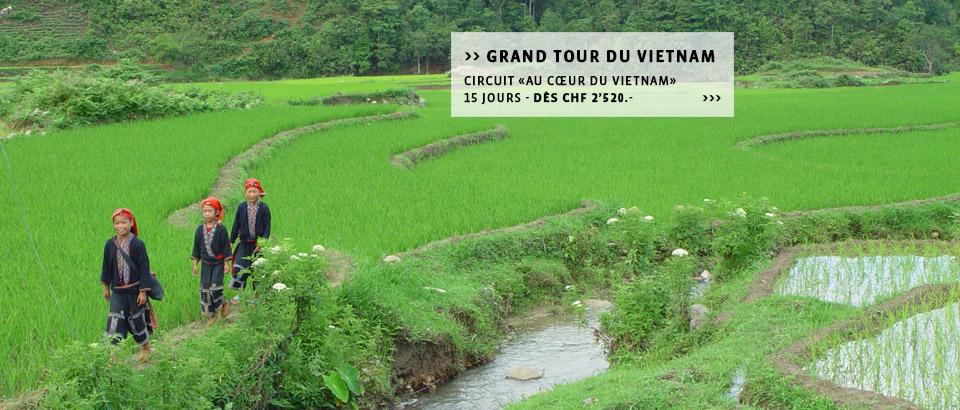 Destinations Vietnam: Découvrez le Vietnam à la carte, les circuits ou séjours individuels du spécialiste Suisse.